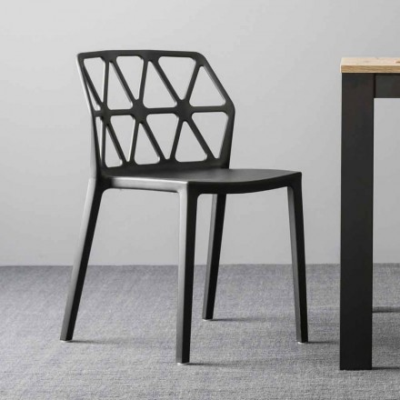 Connubia chair by Calligaris Alchemia in polypropylene made in Italy, 4 pieces