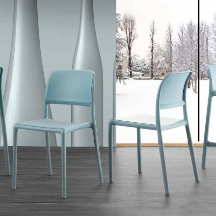 Modern design chair in resin and fiberglass, made in Italy Holiday