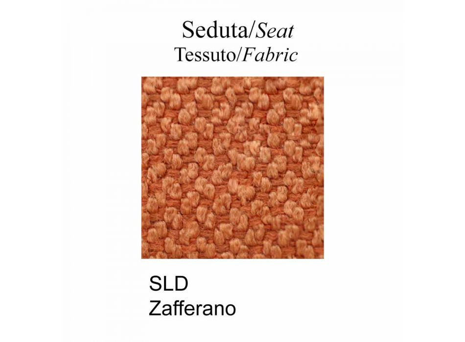 Chair in Fabric and Metal Saffron Finish Made in Italy - Connubia Loop