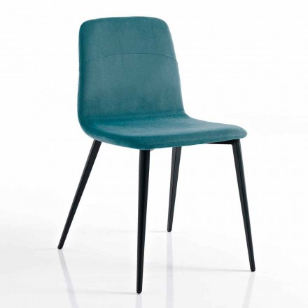 Modern chair in fabric and metal for living room made in Italy, Egizia