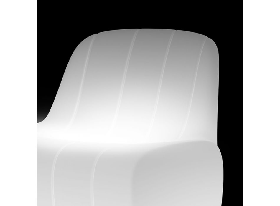 Bright Garden Chair in Polyethylene with LED Made in Italy - Galatea