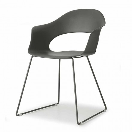 Modern Chair with Sled Structure Made in Italy, 2 Pieces - Scab Design Lady B