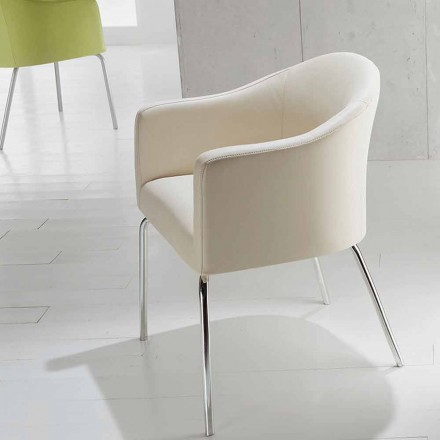 Modern design faux leather chair Costello