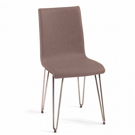 Modern chair faux leather or leather for dining room or kitchen Maha
