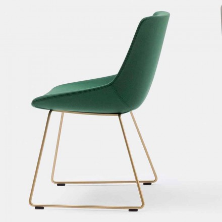 Modern Fabric Chair with Sled Base Made in Italy - Artika
