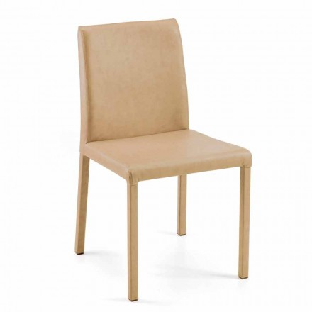 Modern chair for dining room on design Jamila, handmade in Italy