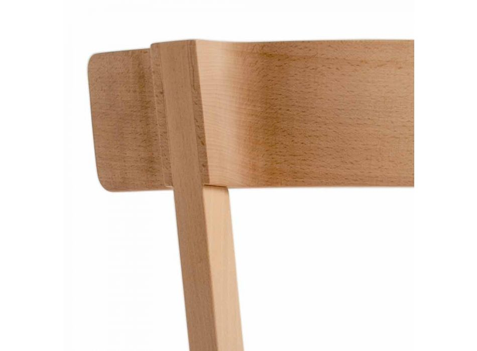 Chair for Kitchen or Dining Room in Solid Beech Made in Italy - Cima
