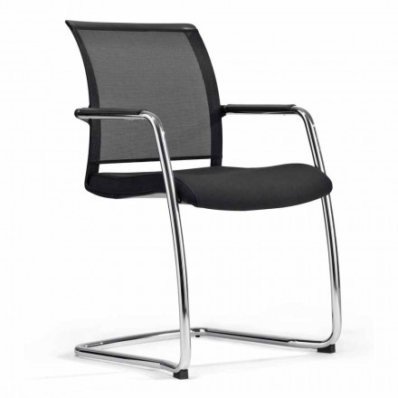 Chair for Congress Hall or for Meeting Room in Tecnorete and Fabric, 2 Pieces - Vespasiano
