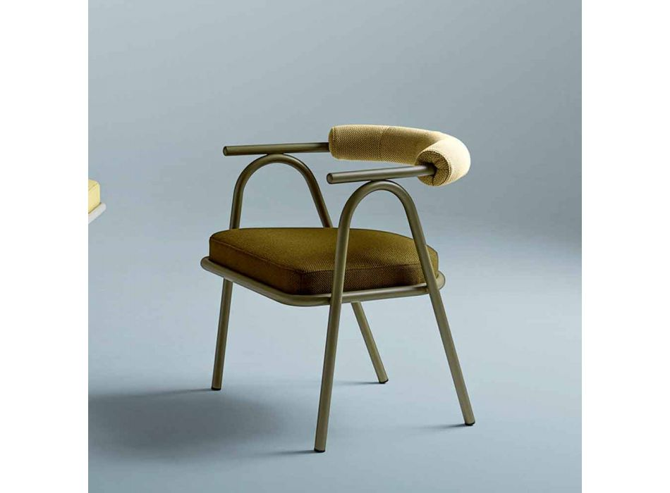 Colored and Modern Design Dining Room Chair Made in Italy - Baba