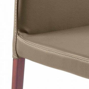 Abbie faux leather design dining chair, made in Italy