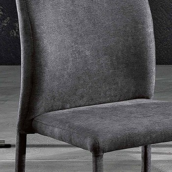 Luigina design dining chair in fabric made in Italy