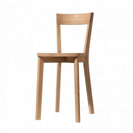 Dining Room Chair in Ash and Solid Wood Made in Italy - Alima