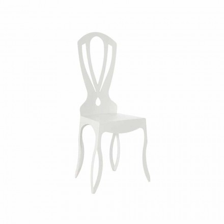 Modern Iron Dining Chair Made in Italy - Giunone