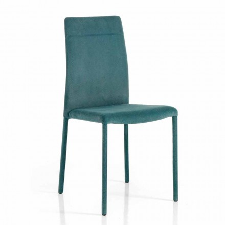 Modern chair in fabric for dining room made in Italy, Porzia
