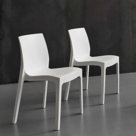 Modern polypropylene kitchen/dining chair, made in Italy, Imperia
