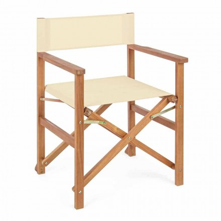 Director Chair in Acacia Wood for Outdoor Design for Garden - Roxen