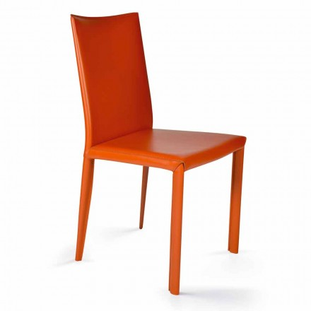 Modern design chair for dininig room H. 88,5 cm, Africa made in Italy