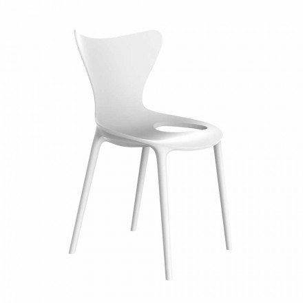 Stackable Design Garden Chairs in Polypropylene 4 Pieces - Love by Vondom