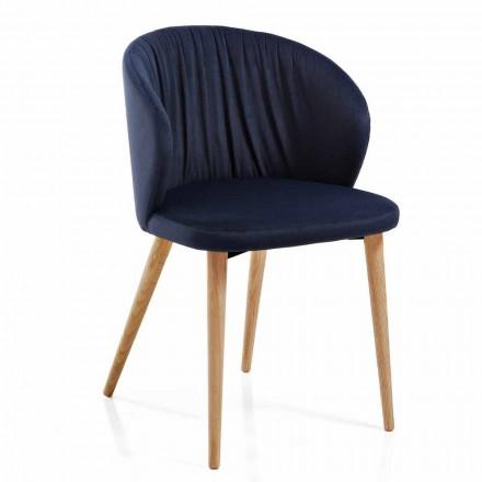 Dining Room Chairs in Fabric Elegant Modern Design 2 Pieces - Reginaldo
