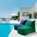 Modern outdoor seating pouf Sacco by Talenti