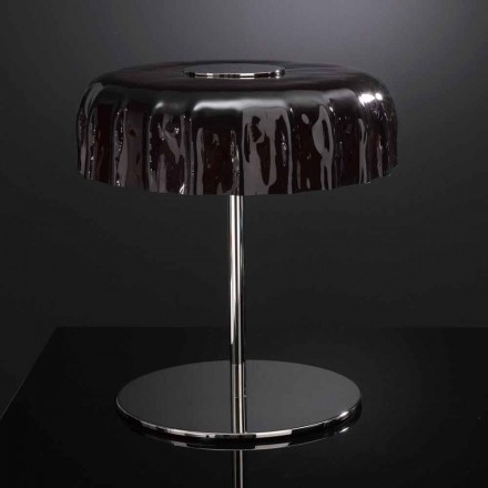 Selene Big Cap table lamp made of glass, made in Italy, Ø40 H 40cm