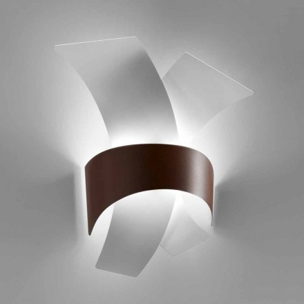Selene Calypso LED wall light, made in Italy 35x15 cm, made of metal