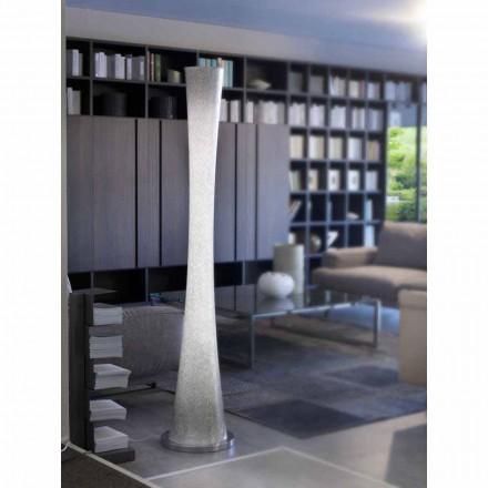 Selene Clessidra blown glass floor lamp Ø36 H175cm, modern design