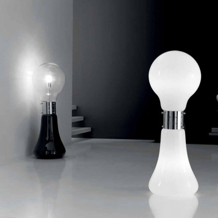 Selene Dina table lamp, made of Murano glass and polished chrome