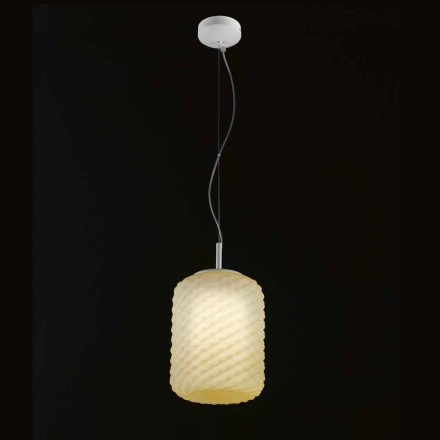 Selene Domino pendant lamp, made of blown glass Ø21 H 27/140 cm