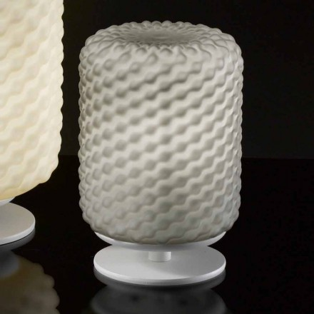 Selene Domino handmade table lamp, Ø15 H x 22 cm, modern design