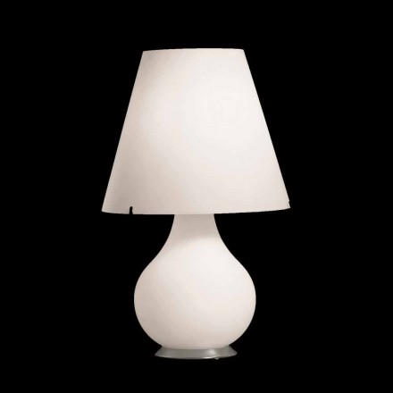 Selene Forever table lamp Ø34 H 55cm made of white blown glass