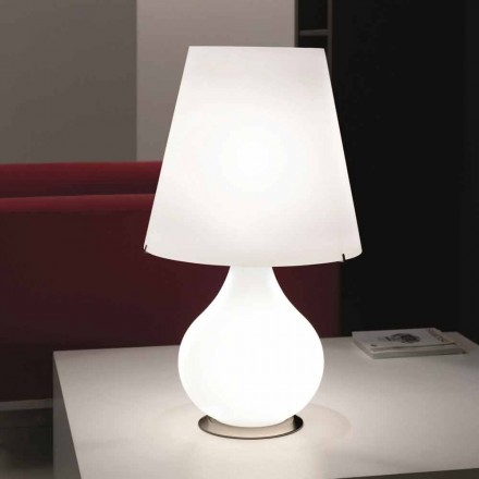 Selene Forever modern table lamp made of blown glass, Ø41 H 72cm