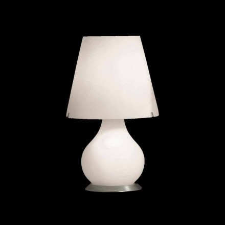 Selene Forever white lamp, made in Italy Ø24 H41cm, modern design