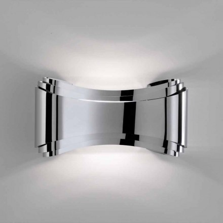 Selene Ionica wall lamp, made in Italy 30x10xH16 cm, glass and steel