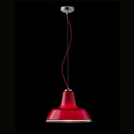 Selene Lampara pendant lamp made of blown glass Ø37 H 24/140 cm
