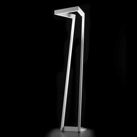 Selene My way modern white LED floor lamp 40x40,H180 cm,made in Italy
