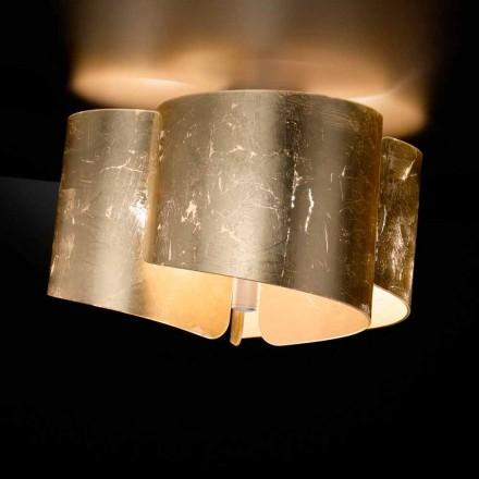 Selene Papiro modern crystal ceiling lamp, made in Italy, Ø46 H28cm