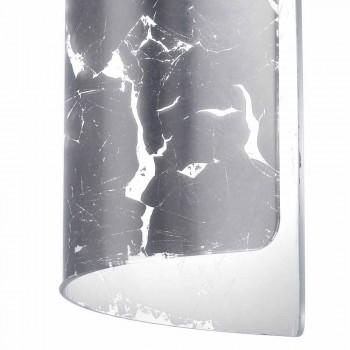 Selene Papiro modern pendant lamp in crystal Ø15 H 125cm