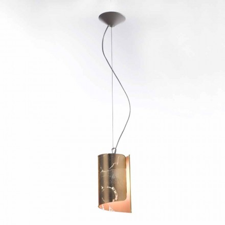 Selene Papiro modern pendant lamp made of crystal, Ø15 H 125 cm