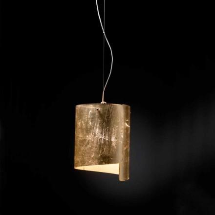 Selene Papiro modern pendant lamp, made in Italy, Ø26 H 125 cm