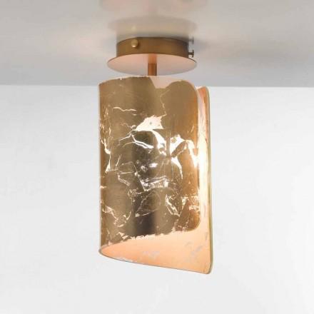 Selene Papiro crystal ceiling lamp, made in Italy, Ø15 H30 cm