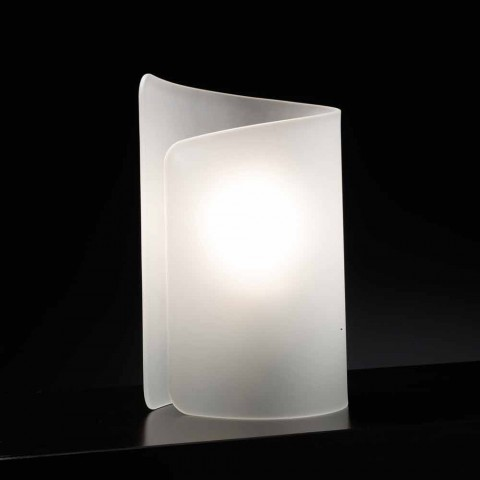 Selene Papiro crystal table lamp made in Italy 15x14xH25cm