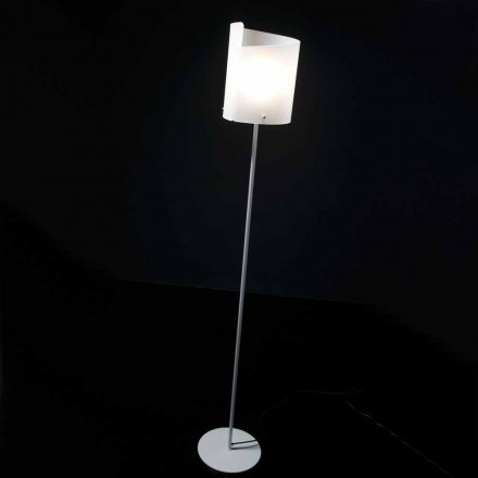 Selene Papiro crystal wall lamp Ø26, made in Italy, modern design