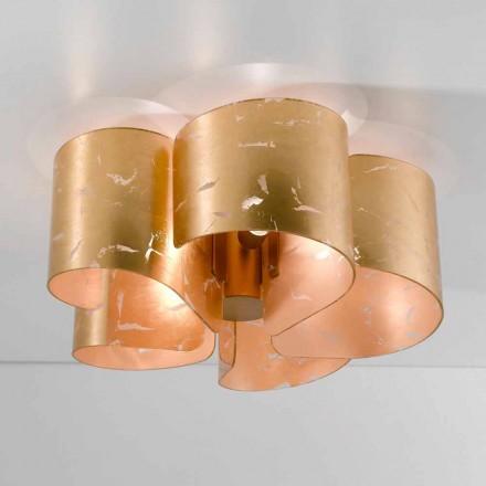 Selene Papiro crystal ceiling lamp, made in Italy, Ø65 H28cm