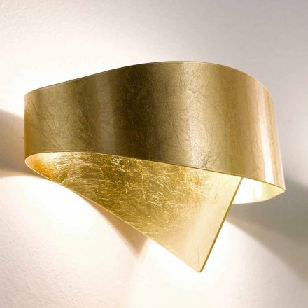 Selene Scudo modern design wall lamp, made in Italy, 29x15xH16 cm