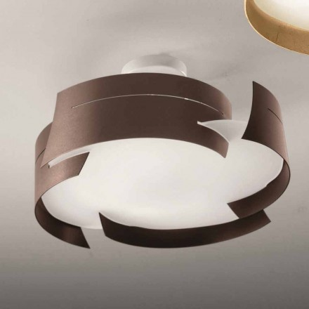 Selene Vultur steel ceiling lamp, made in Italy Ø47 cm, modern design