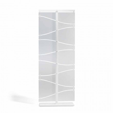Modern design methacrylate room divider Mara, white satin finish