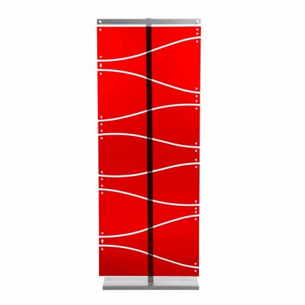 Modern design methacrylate room divider Evelyn, red or satin finish
