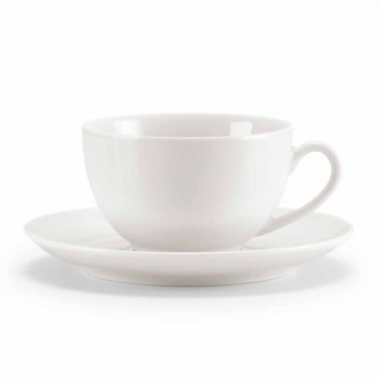 Set of 18 Tea Cups with Sugar Bowl and Porcelain Tray - Lucerne