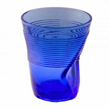 Colored Glass Water Glasses Set 6 Pieces Particular Design - Sarabi